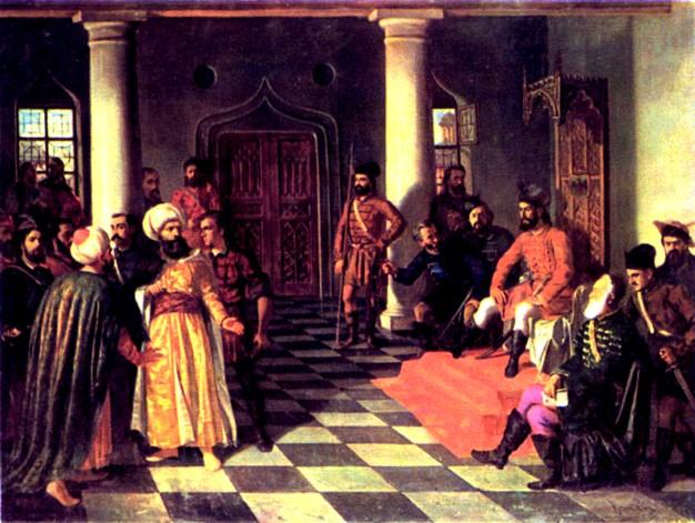 Vlad Ţepeş, tot cu barbă, într-o pictură de Aman