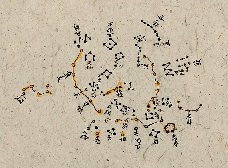 The Dunhuang map from the Tang Dynasty