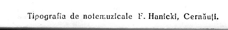 Tipografia de note muzicale F Hanicki