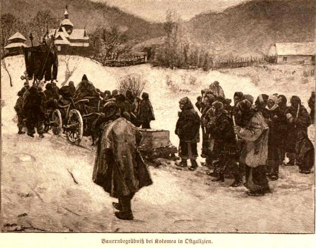 Tipologii rutene: Înmormantarea, într-un sat de lângă Kolomeea, p. 453
