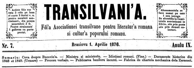 Transilvania 1876
