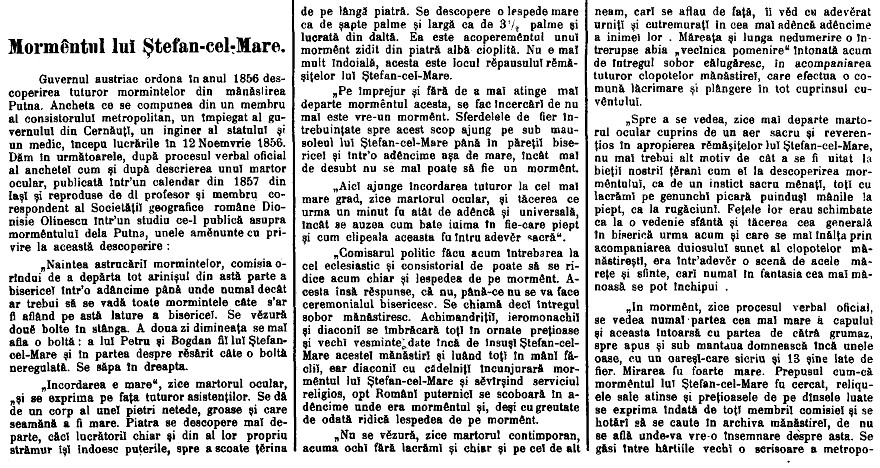 Tribuna 1904 Mormantul lui Stefan cel Mare 1