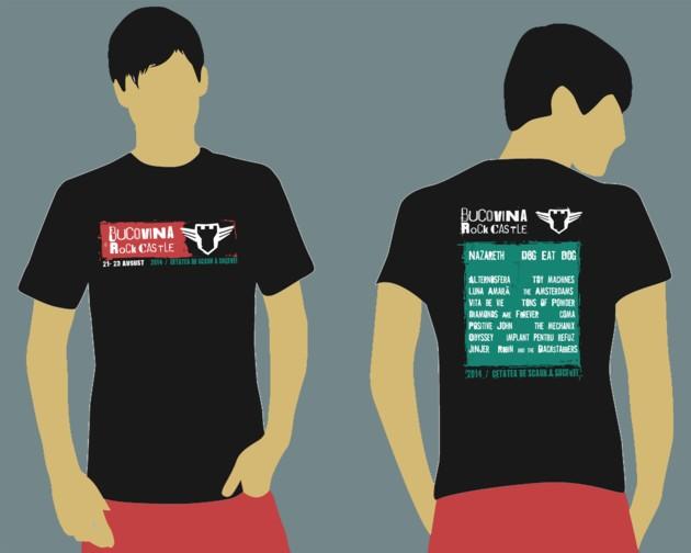 Varianta finală de tricou BUCOVINA ROCK CASTLE 2014