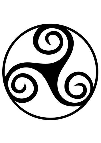 Triunghi celtic, într-o primă reprezentare grafică