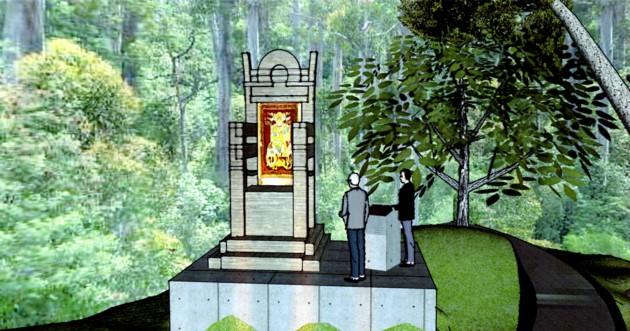 Monumentul pentru megieşia Cetăţii Sucevei: Tronul