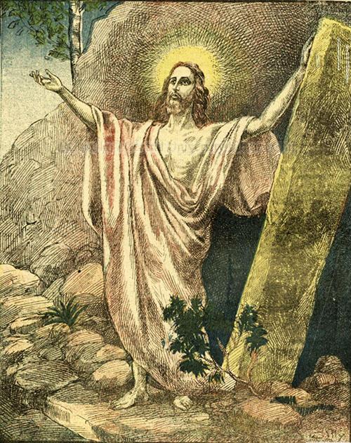 F. Doubec, Învierea lui Cristos - Universul literar, 1924