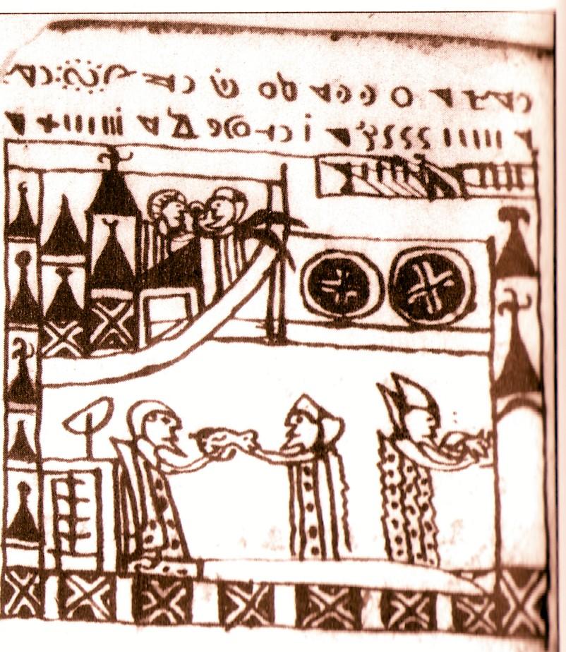 Crucea dreaptă (Cerul), crucea oblică (Pământul) şi crucea gammadion (zvastică)