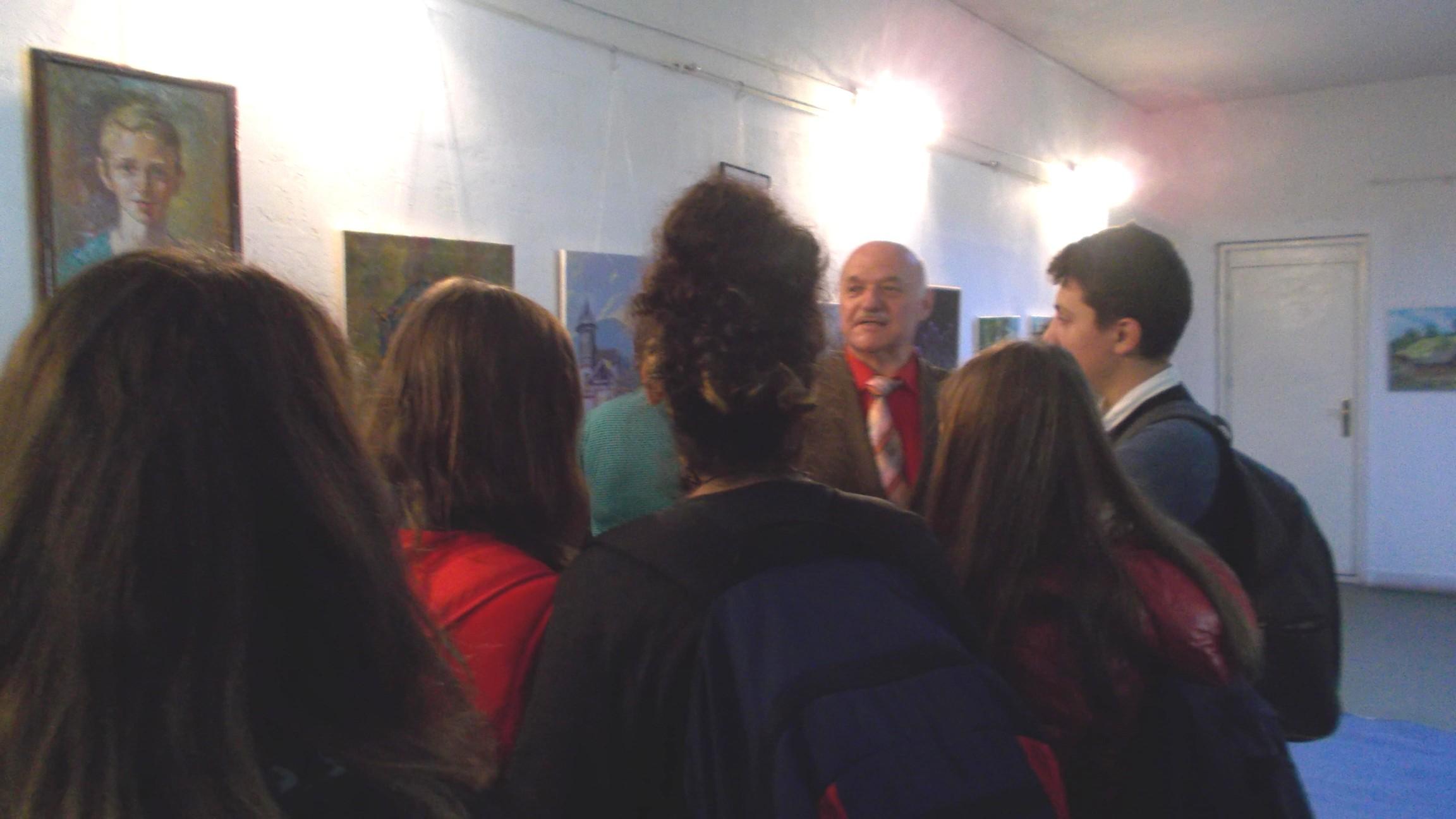 Ioan Bodnar, asaltat de tineri iubitori ai artei