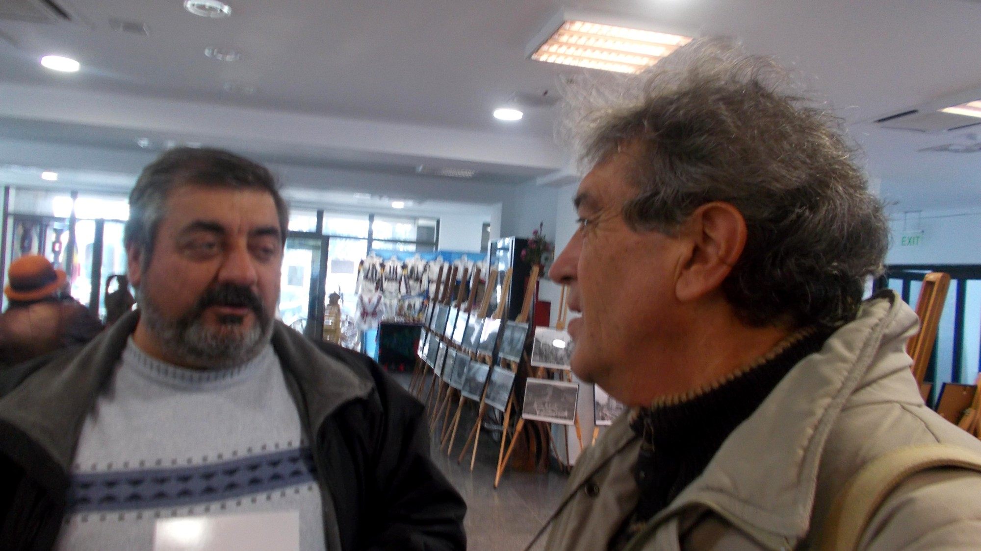 Sculptorul Liviu Jitaru şi umoristul Constantin Horbovan