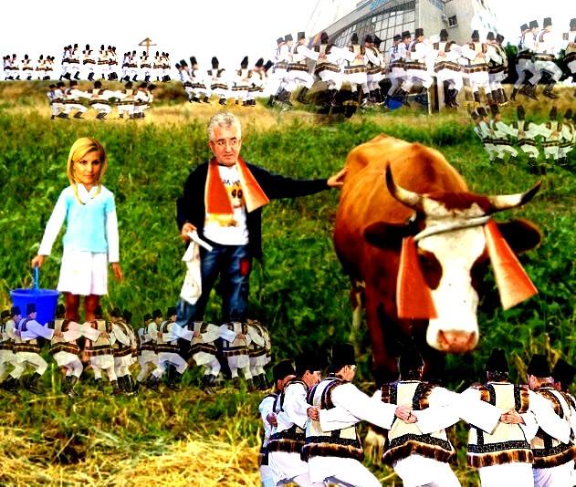 """Ion Lungu: """"Doamnă Udrea ăăă...., vaca asta dă câtre trei ăăă... cvartale de lapte ăăă..., plus crâşme şi terase, ăăă... pe an. DE asta i-am zis ăăă.... Primăria!""""."""