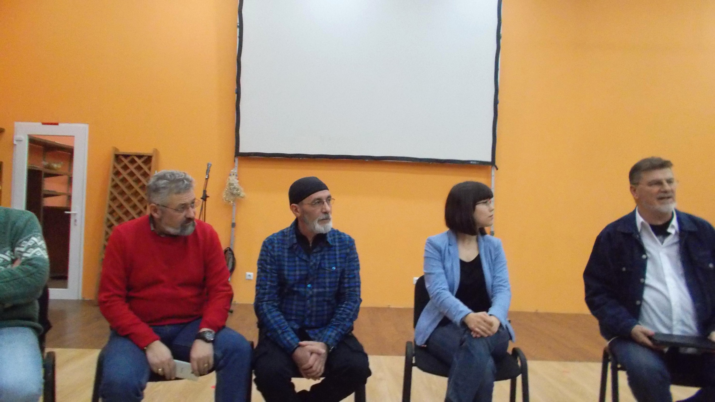 În Prezidiu: Cârdei, Victor T. Rusu, Oana Slemco şi Mihai Pânzaru-PIM