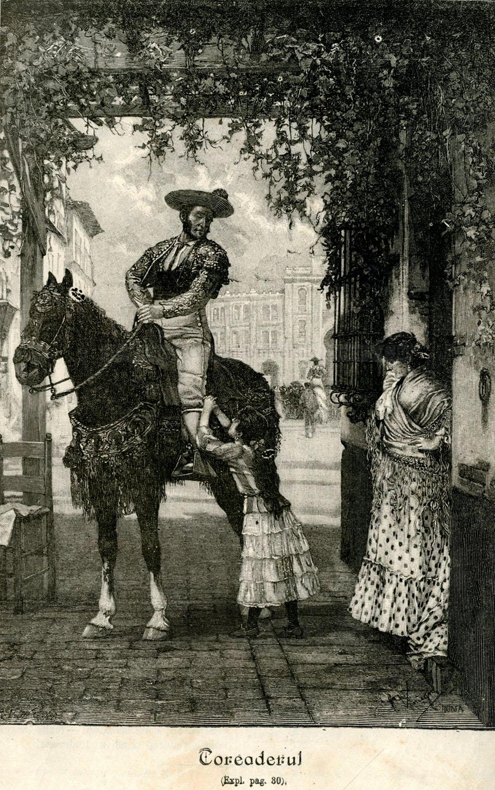 O ilustrație din VATRA: Toreadorul