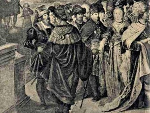 Detaliu din pictura lui Francken, cu Mihai Viteazul în prim-plan