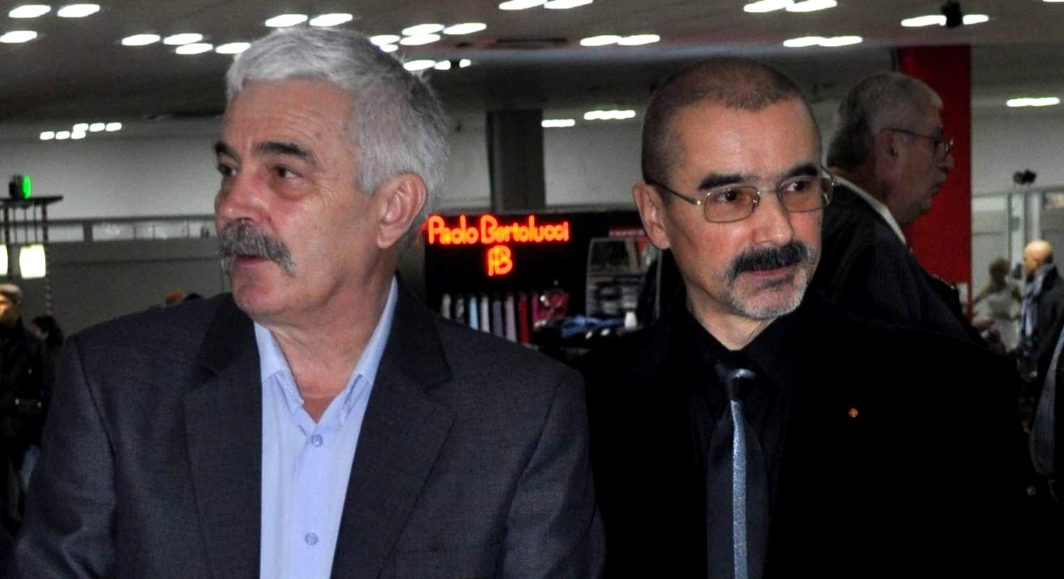 Artiştii plastici Iosif Csukat şi Tiberiu Cosovan