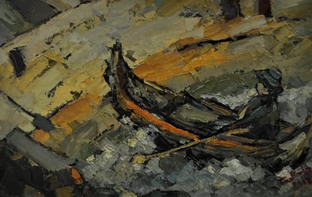 Pescar, în barcă - de Iosif Csukat