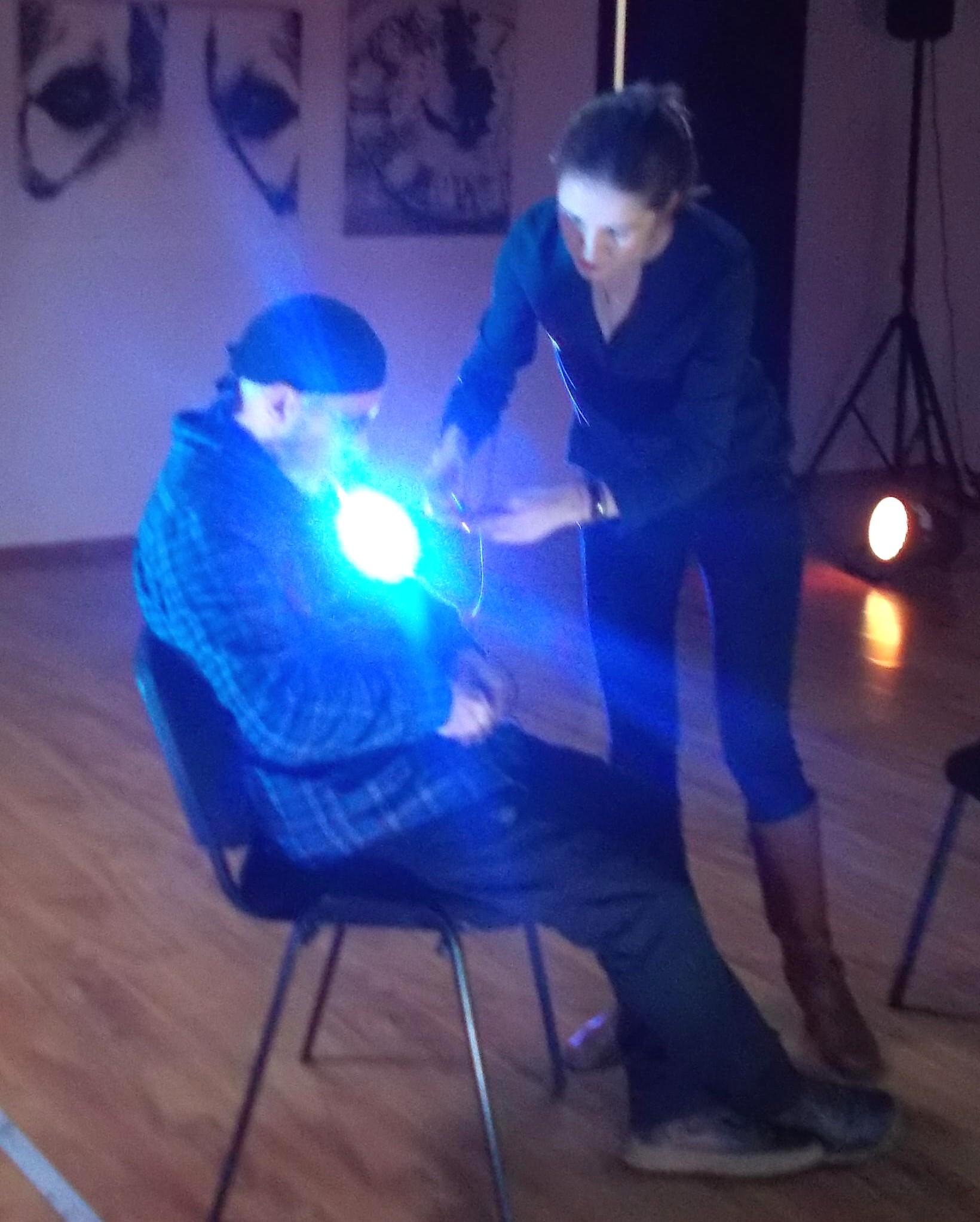 Detaliu din fotografia cu luminile