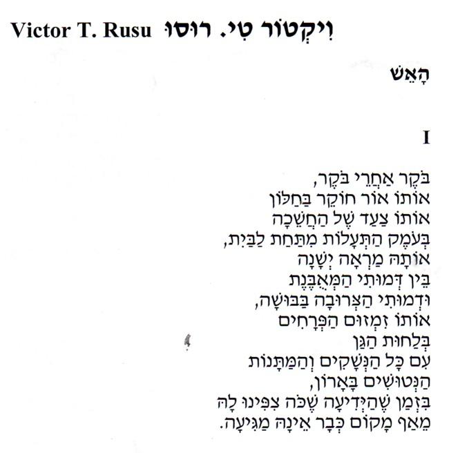 Victor T Rusu poem