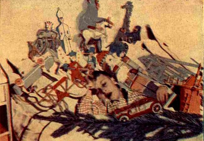 Vis de copil, în noaptea Ajunului - Realitatea ilustrată 1929