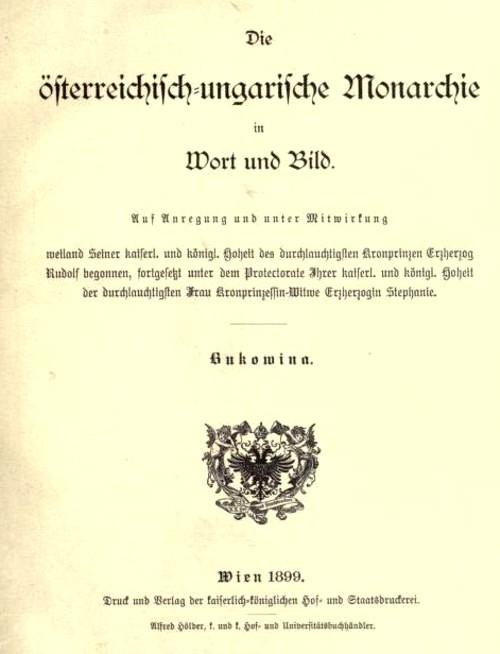 Monarhia austro-ungară în cuvinte şi imagini / Bukowina