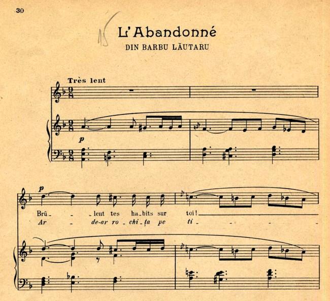 Vulpescu partitura