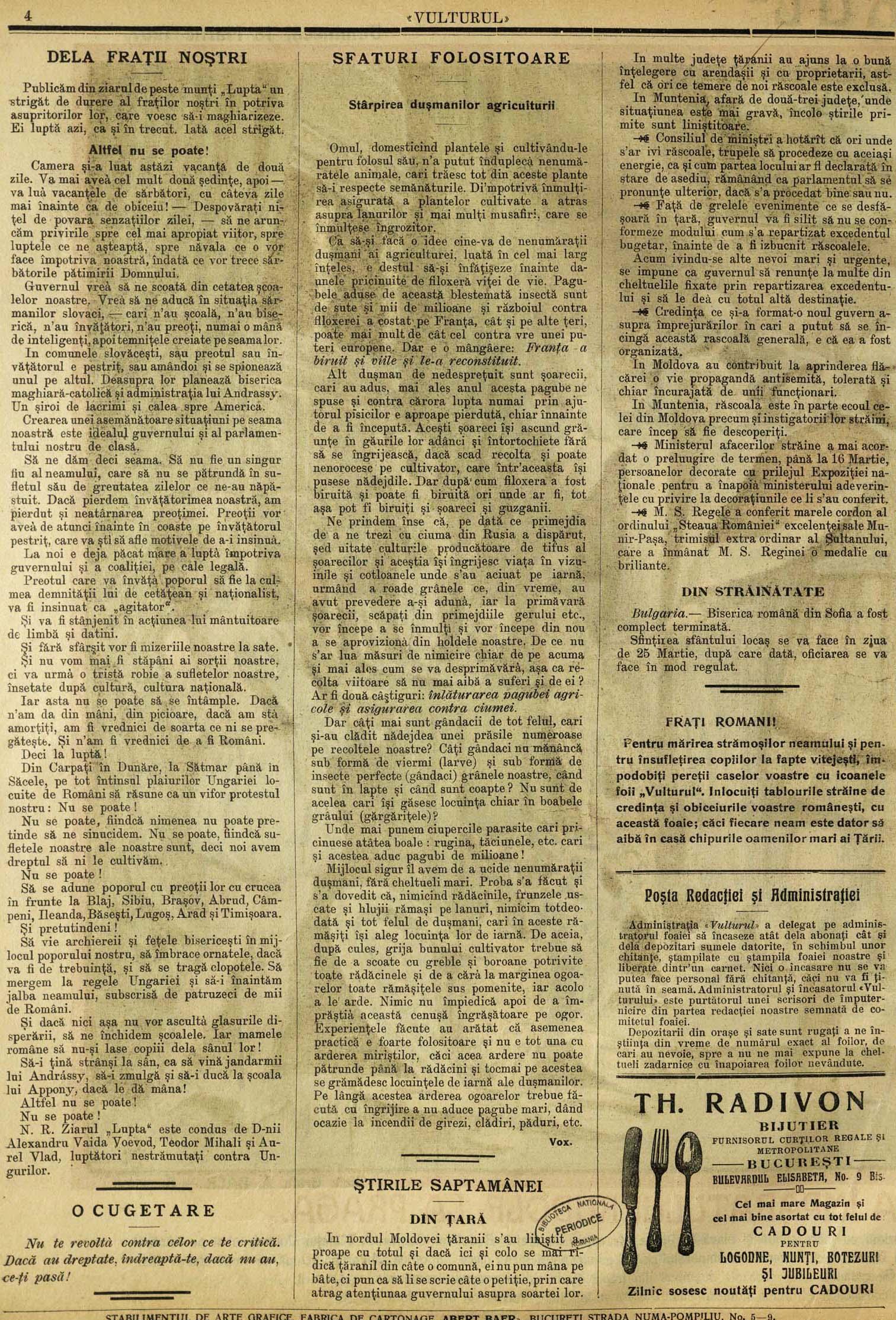 Vulturul 18 martie 1907 p 3