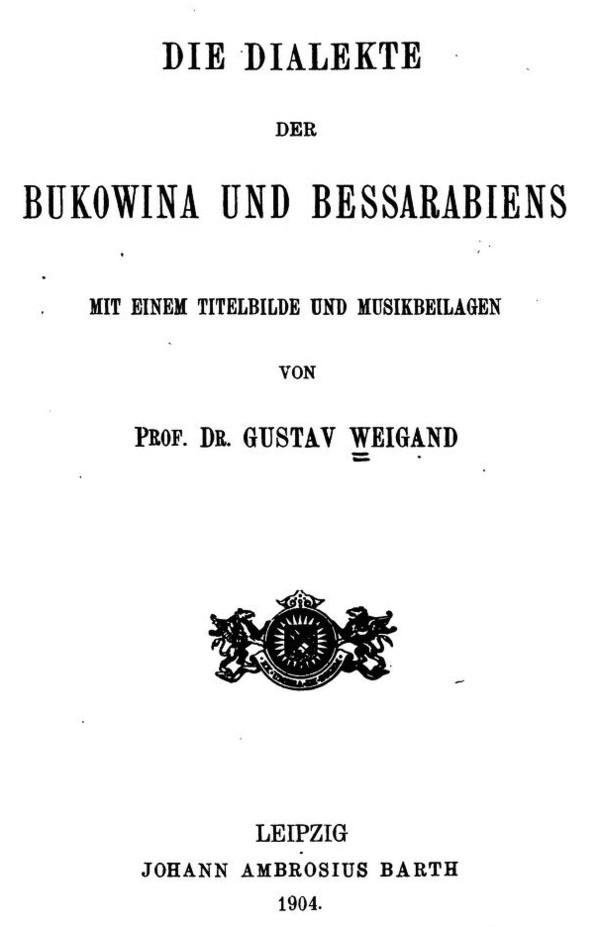Coperta cărţii lui Weigand