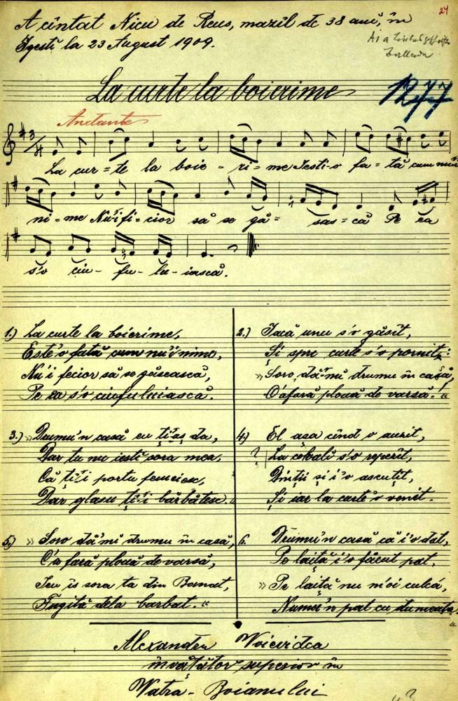 Un cântec mazilesc, în manuscrisul Voevidca