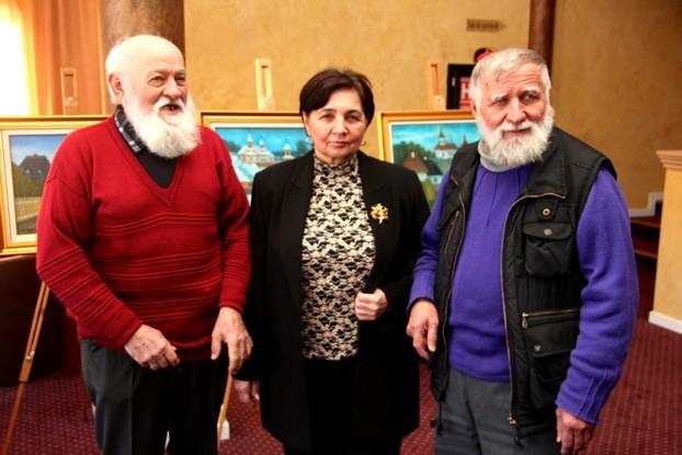Pictorii Dumitru RUSU, Viorica MORUZ şi Ion GRIGORE
