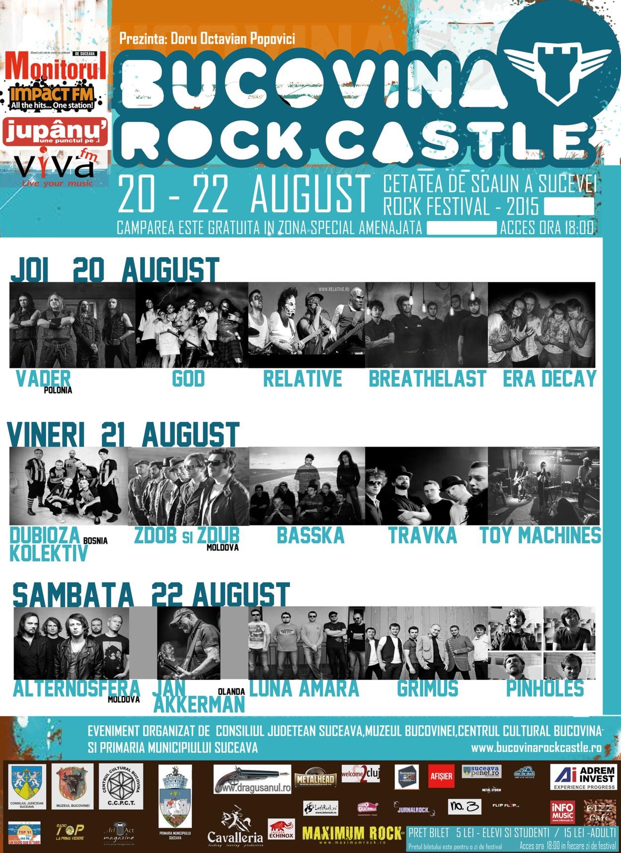 Afişul BUCOVINA ROCK CASTLE 2015