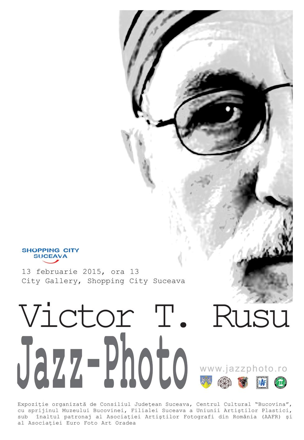 Afişul expoziţiei lui Victor T. Rusu, din 13 februarie