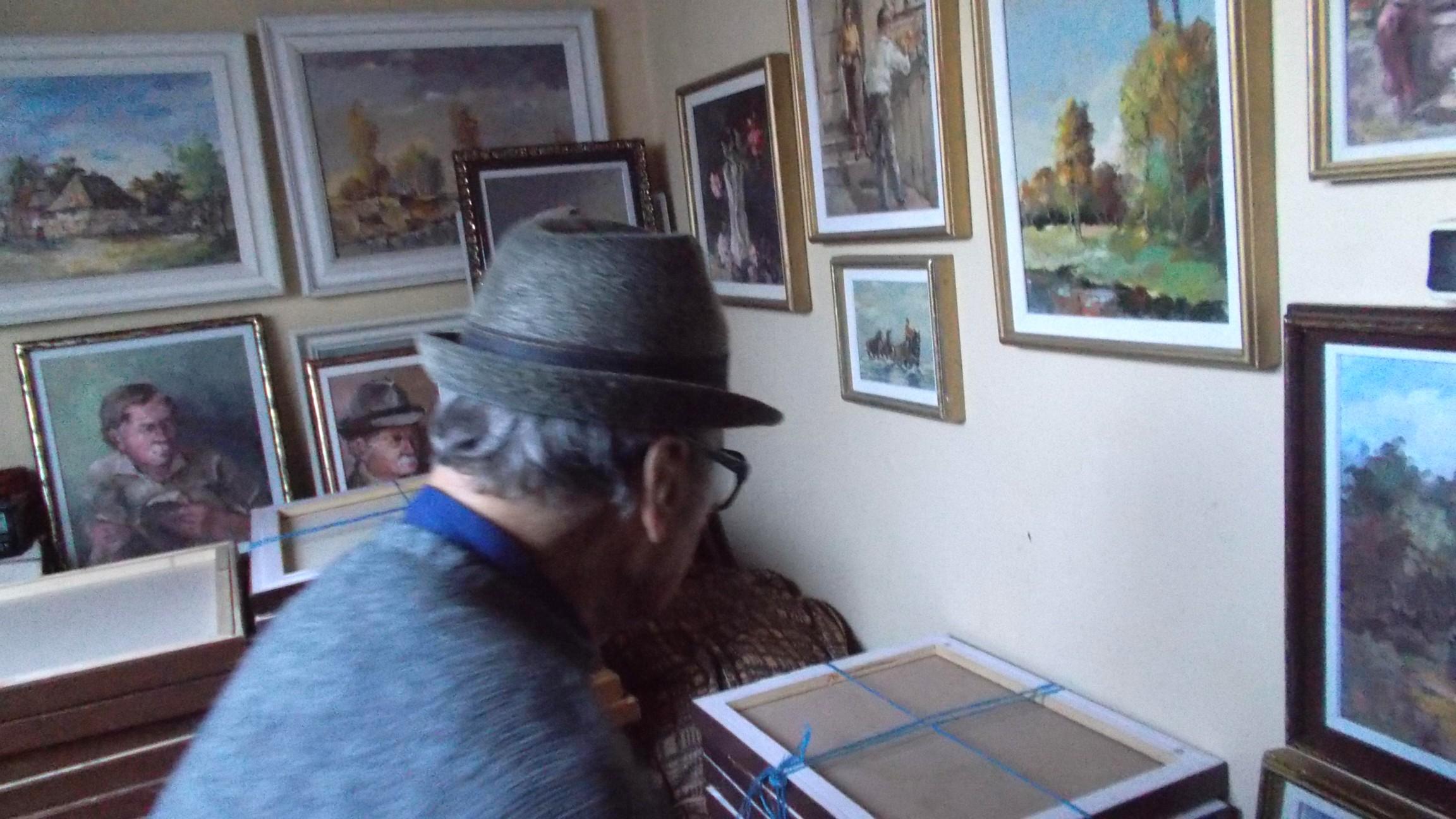 Cu Dimitrie Savu, în atelierul de la mansardă